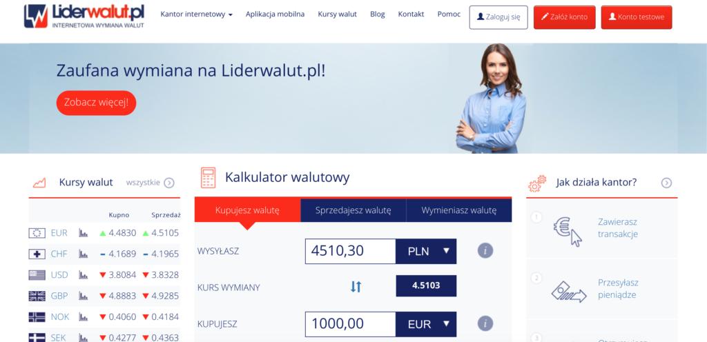 Liderwalut.pl kalkulator