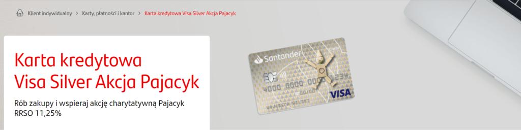 Santander karta Visa Silver Akcja Pajacyk