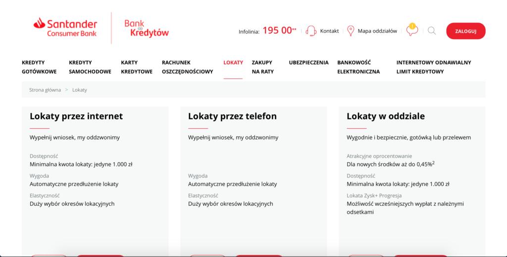 Lokaty Santander Consumer Bank
