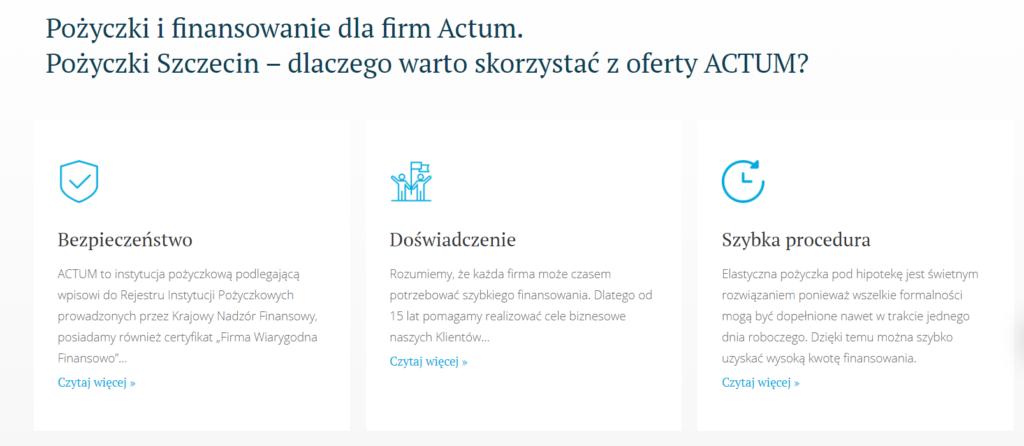 finansowanie fla firm Actum
