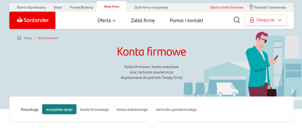 konto firmowe Santander Bank Polska