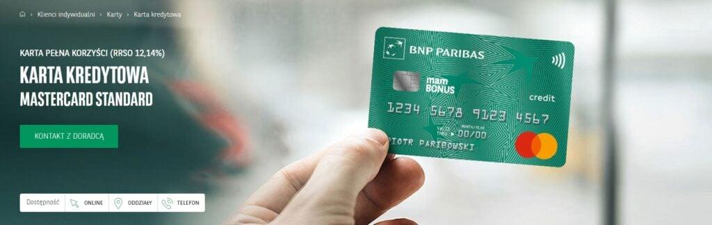 Karta kredytowa Paribas