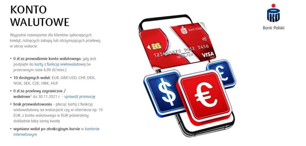konto walutowe PKO